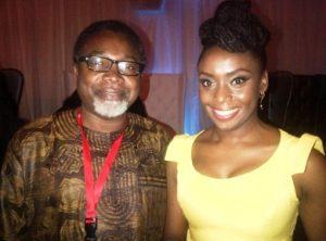 Mahmood Ali-Balogun & the writer of Half of a Yellow Sun Chimamanda Ngozi Adichie
